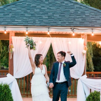 Just Married at the Gazebo